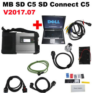 V2017 07 Mb Sd C5 Sd Connect Compact 5 Star Diagnostic With Dell D630 Laptop