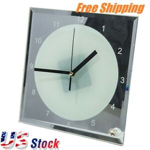 Us Stock 20 Pcs lot 7 8 X 7 8 Sublimation Blank Glass Photo Frame With Clock