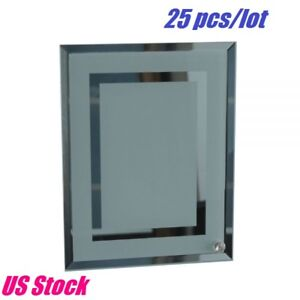 25 Pack 8 Sublimation Blank Glass Photo Frame Double Mirror Border Us Stock