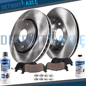 Front Brake Rotors Ceramic Pads For 2011 2012 2013 2014 Hyundai Sonata