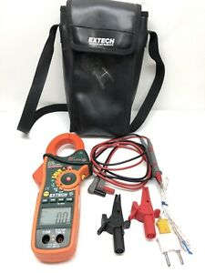 Extech Ex830 True Rms Ac dc Clamp Meter Built In Ir Thermometer