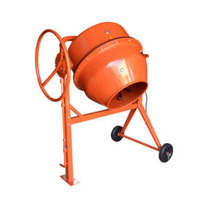 7 Cu Ft Electric Steel Stucco Concrete Cement Mixer 210l Stone Mixing Machine