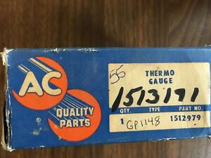 1955 Chevrolet Truck Thermo Gauge Temperature Nos Hot Rod Rat Rod Kustom
