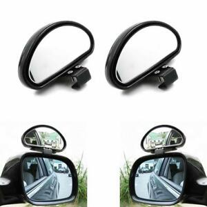 2x Clip On Blind Spot Convex Wide Rear View Angle Auxiliary Car Parking Mirrors