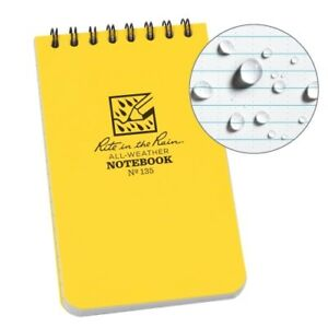 Rite In The Rain Top Spiral All Weather Universal Notebook 3 x 5 1 pack
