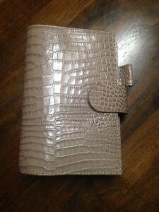 Personal Size Planner Croco Leather