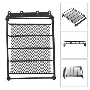 Black Roof Rack Luggage Carrier For 1 10 Truck Rc Model Cars Vehicle Crawlers 1x