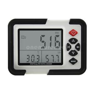Ht 2000 Digital Co2 Monitor Meter Gas Analyzer With Temperature Humidity Tester