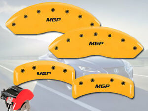 Front Rear Yellow Mgp Brake Disc Caliper Covers Fits 2000 2002 Subaru Outback