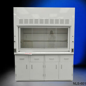 Brand New White Chemical 6 Fume Hood With Epoxy Top General Storage Cabinets