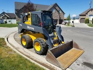 2014 John Deere 326e Skidsteer Loader Bobcat Cat Enclosed Cab Heat A c