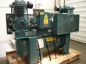 Curtis Masterline 24dz12e 15 Hp 240 Gallon Dual 2 Stage Air Compressor acp2113