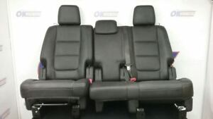 15 Ford Explorer Xlt Second Row Rear Seat Black Leather