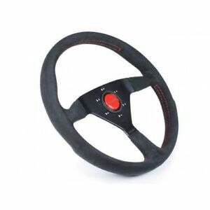 Momo Automotive Mcl32al3b Monte Carlo Alcantara Steering Wheel With Red Stitch