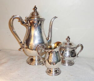 Vintage International Silver Plate Camille Pattern Coffee Pot Creamer