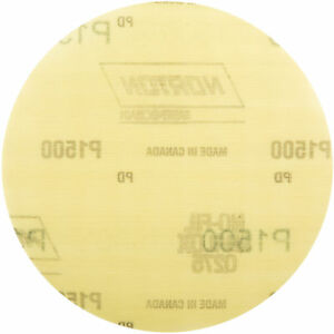Norton 66261101615 Power Sander Hook & Loop Discs Size 6 P1500 Grit  50 EA