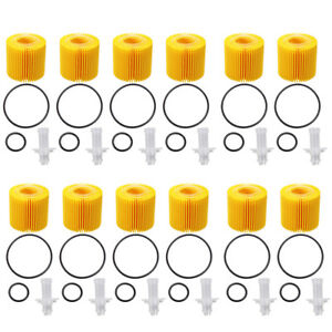 12 Pcs Engine Oil Filter For Toyota Lexus Pontiac Ch10358 New