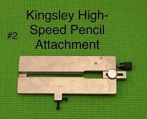 Kingsley Hot Foil Stamping Machine Pencil Attachment Guide