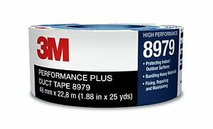3m 8979 Blue Duct Tape 7 In Width X 12 1 Mil Thick 94928 4 Rolls