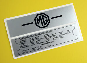 Mgb Vintage Early Rocker Valve Cover Stickers Decal Gloss Laminated