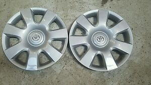 61115 New Pair Of 2 Toyota Camry 15 Hubcap Wheel Rim Covers Caps 2002 03 2004