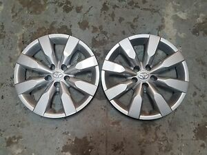 Pair Of 2 New 2014 14 2015 15 2016 16 Corolla 16 Hubcaps Wheel Covers 61172