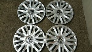 61560 10 2014 15 Vw Volkswagen Golf Passat Jetta Hubcaps Set Of 4 Wheel Covers