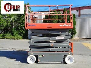 Skyjack Sjiii4626 Electric Scissor Aerial Man Boom Lift 26ft Height low Hours