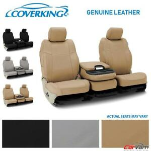 Coverking Genuine Leather Front Custom Seat Covers For 2006 2008 Dodge Ram 1500