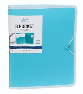 Docit 8 Pocket Folder 8 Pocket Folder Holds Up To 200 Pages