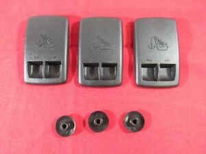 Dodge Chrysler Rear Seat Anchor Cover W Retainer Nuts Set Of 3 New Oem Mopar