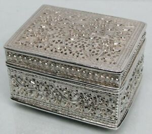 Nice Vintage Sterling Silver Spice Box