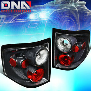 For 2004 2008 Ford F150 Flareside Carbon Fiber Housing Altezza Style Tail Lights