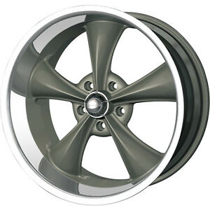 22x10 5 Gray Ridler Style 695 Wheels 5x5 0 Lifted Fits Chevrole