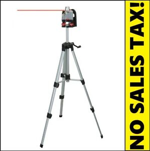 Motorized Rotary Laser Level Kit W Tripod Goggles 360 Degrees Rotation 100ft