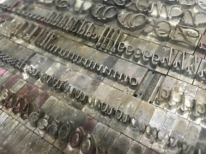 Liberty 48 Pt Atf 511 Letterpress Type Vintage Printer s Lead Metal