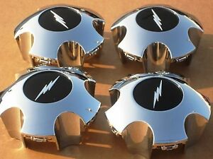 Fits Ford Lightning Chrome Center Caps F150 Svt Expedition Wheel Hubcaps 4 New