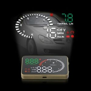 X6 Car Hud Head Up Display Obd Ii Obd2 Auto Gauge Speed Dash Screen Projector