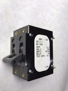 Upl11 1 66 1252 Airpax lot Of 3 Circuit Breaker 12 5a Two Pole