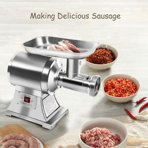 Industrial Electric Meat Grinder Commercial 22 Food Processor Stainless Steel