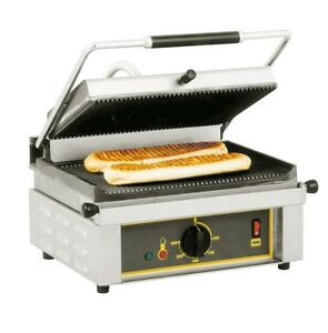 Equipex Sodir Made In France Commercial Panini Press 14 X 9 Grill 110 Volt