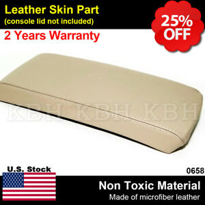 Leather Center Console Armrest Lid Cover Fits For Nissan Altima 2007 2012 Beige