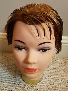 Vintage Female Head Mannequin Rubber Face