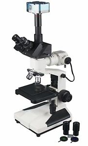Trinocular Reflected Light Metallurgy Metallograph Microscope W 5m