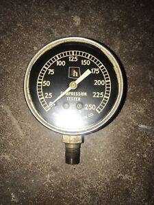 Vintage Compression Tester Gauge Harvey E Hanson Co Model 5