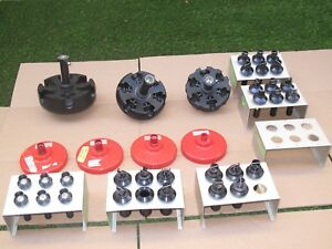 Large Lot Of Beckman Rotor With Bucket Rack 116 5 101 0 103 0 331186 Rack