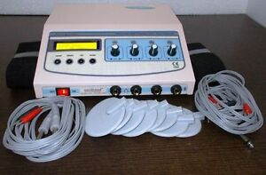 New Electro Physiotherapy Ultrasound Therapy Unit Pain Relief 4 Channel Manbdvg