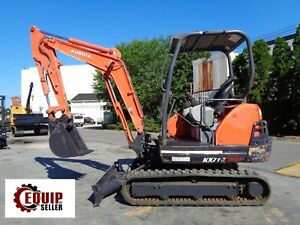 Kubota Kx71 3 Mini Excavator Loader Backhoe Diesel Low Hours