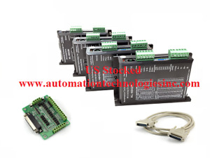 4 Pcs Digital Stepper Driver 0 5 4 2a 20 40vdc Db25 Breakout Board With Cable