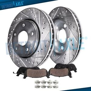Front Drilled Brake Rotors Ceramic Pads For Toyota Solara Camry Sienna 11 65